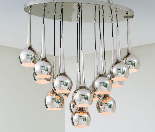 Bottle Light Fixture-Nickel