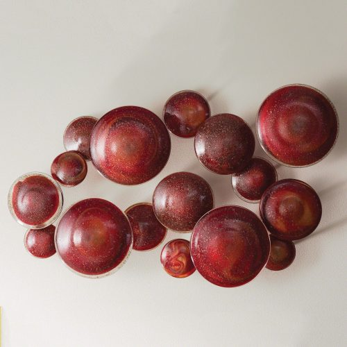 Glass Wall Mushrooms-Red:Orange