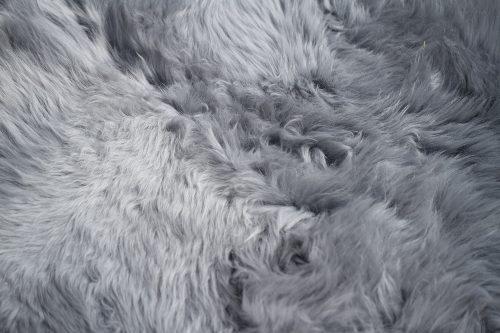 NEWZE peau de mouton double gris zoom