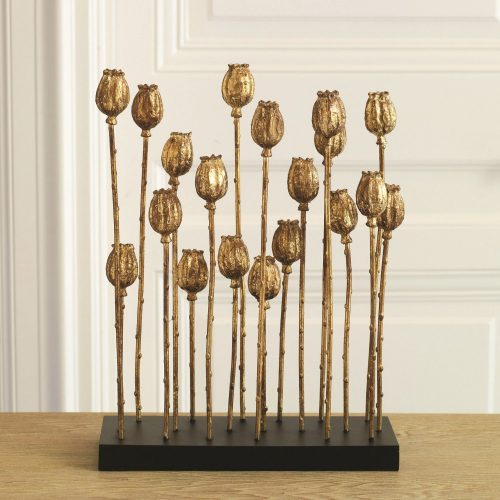 Poppy Pod Sculpture Multi-Gold