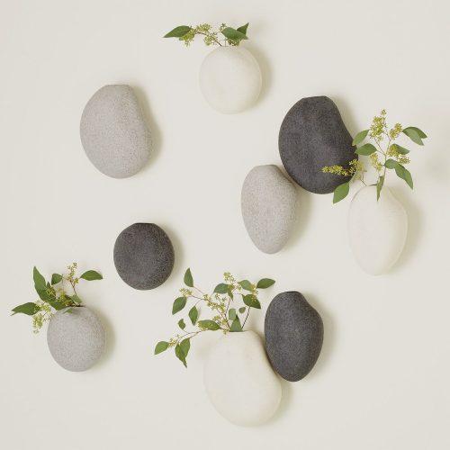 S:3 Pebble Wall Vases