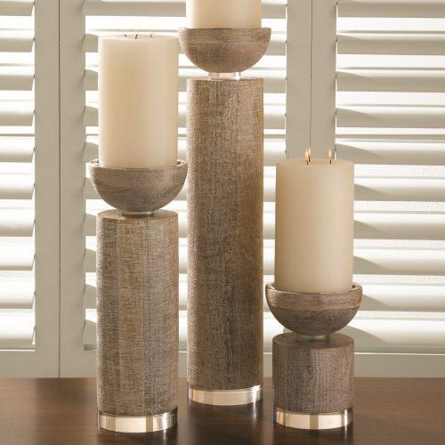 Scratched Pillar Holder-White