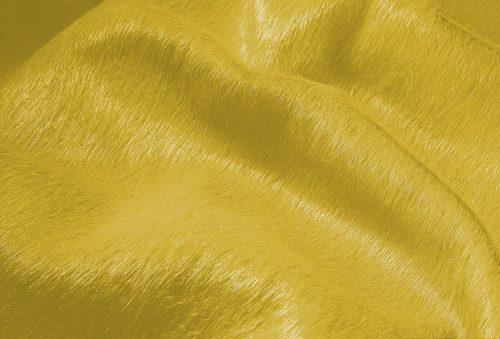 WILD peau de vache jaune zoom