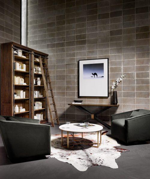York Swivel Chair Modern Velvet Smoke
